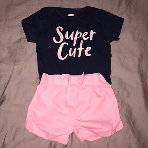 Cute baby girl shorts set